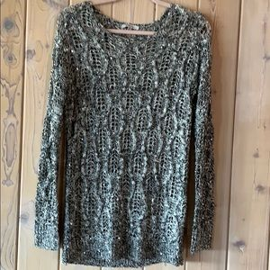 Cozy Casual Knit Long Sweater Size S/M So Soft!